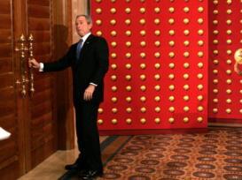 Bush at the door